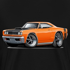 1968 Dodge Coronet Super Bee Orange Car T-Shirts - Men's Premium T-Shirt