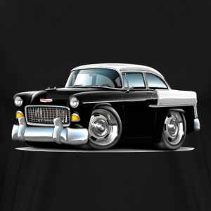 1955 Chevy Belair Black Car - Men's Premium T-Shirt