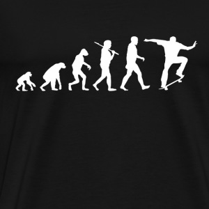 Skater Evolution funny - Men's Premium T-Shirt