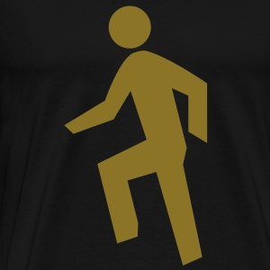 Everyday im shufflin gold flex print - Men's Premium T-Shirt