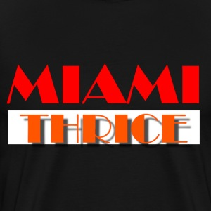 Miami Thrice - Black - Men's Premium T-Shirt