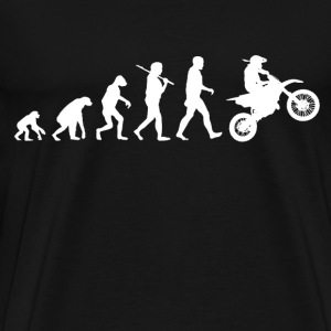 Motocross Evolution Funny Parody - Men's Premium T-Shirt