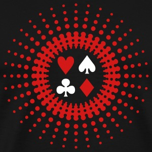 Black poker star (2c) T-Shirts - Men's Premium T-Shirt