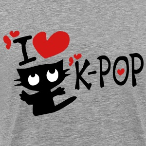 I love k-pop txt kitty cat vector art Men's Heavyweight T-Shirt - Men's Premium T-Shirt