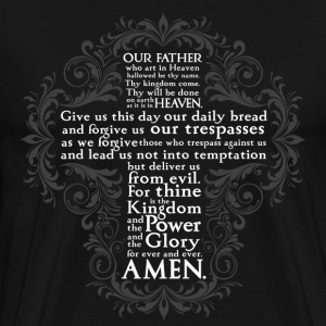 Lord's Prayer - Men's - Men's Premium T-Shirt