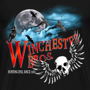 Winchester Bros Hunting Evil Since 1983 Moon Cloud T-Shirts - Men's Premium T-Shirt