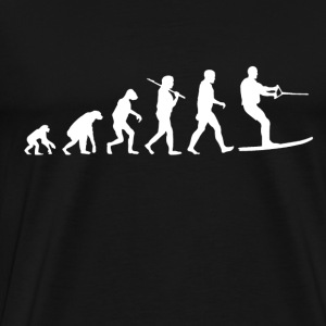 Water ski Evolution funny - Men's Premium T-Shirt