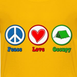 Peace Love Occupy Protest Kids' Shirts - Kids' Premium T-Shirt