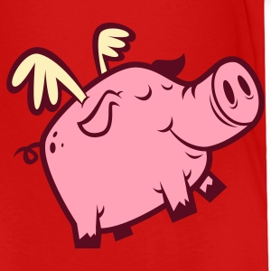 Cute Flying Pig Toddler Shirts - Toddler Premium T-Shirt