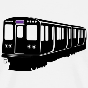 Purple Line Chicago L Train T-shirt - Men's Premium T-Shirt
