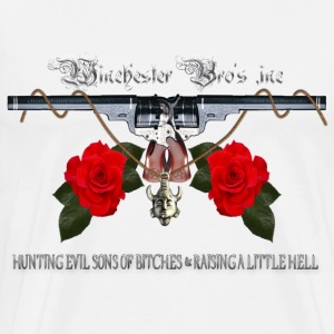 Winchester Bros hunting evil sons of bitches N rai T-Shirts - Men's Premium T-Shirt