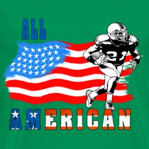 All American Football player 3 blue T-Shirts - Men's Premium T-Shirt