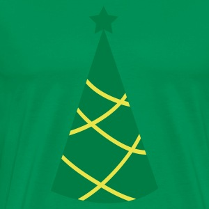 Christmas tree pointy with star T-Shirts - Men's Premium T-Shirt