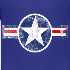 Vintage Patriotic Star, Red White and Blue Logo Sport Kid's Tshirt
