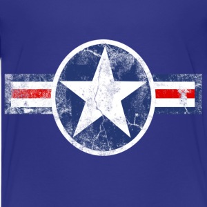 Vintage Patriotic Star, Red White and Blue Logo Sport Kid's Tshirt - Kids' Premium T-Shirt