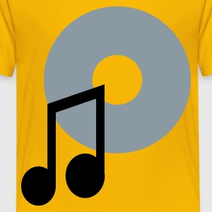 music note and a CD Kids' Shirts - Kids' Premium T-Shirt