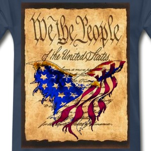 We The People American Eagle Flag Short Sleeve Heavy Weight  T-Shirt w/design on Front - Men's Premium T-Shirt