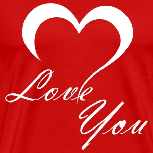 Red Love You T-Shirts - Men's Premium T-Shirt