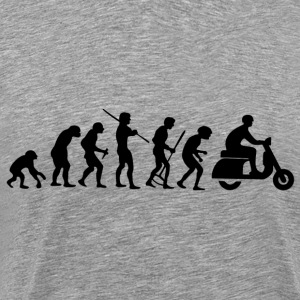 Motorcycle Rider Evolution Scooter Vespa - Men's Premium T-Shirt