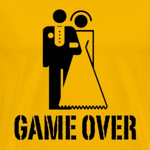 Game Over Bride Groom Wedding T-Shirts - Men's Premium T-Shirt