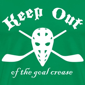 Keep Out (Of The Goal Crease) T-Shirts - Men's Premium T-Shirt