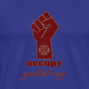 Occupy Gallifrey - Doctor Who | Robot Plunger T-Sh - Men's Premium T-Shirt