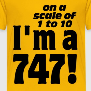 On A Scale of 1-10 I'm a 747 Kids' Shirts - Kids' Premium T-Shirt
