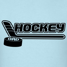Hockey Dad (stick and puck design) T-Shirts