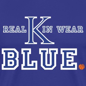 UK Wildcats Basketball - Real Kin Wear Blue T-Shirts - Men's Premium T-Shirt