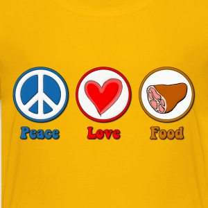 Peace, Love, Food Fat Kids' Shirts - Kids' Premium T-Shirt