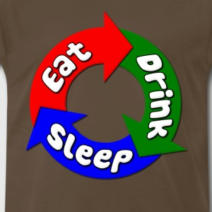 Eat, Drink, Sleep Fat T-Shirts - Men's Premium T-Shirt