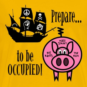 Prepare to Be Occupied Pirate Pig T-Shirts - Men's Premium T-Shirt