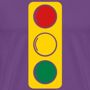 traffic lights red amber and green T-Shirts - Men's Premium T-Shirt