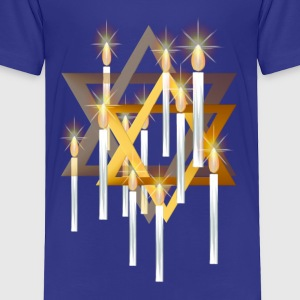 Nine White Candles and Star - Toddler Premium T-Shirt