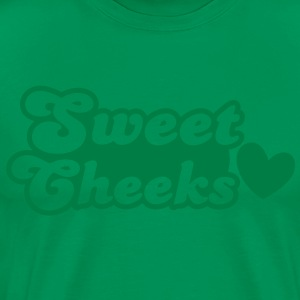 sweet cheeks with cute little love heart T-Shirts - Men's Premium T-Shirt