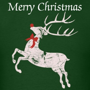 Vintage Christmas Rudolph the red nose Reindeer T-Shirts - Men's T-Shirt