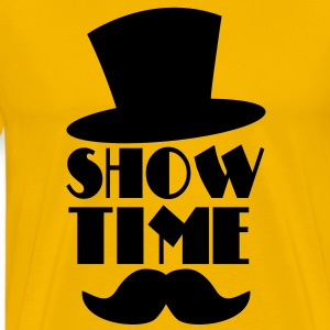 SHOW TIME MAGIC hat and moustache T-Shirts - Men's Premium T-Shirt