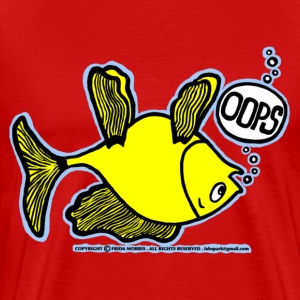 OOPS Upside Down Fish, Sparky the Fish is Upside D - Men's Premium T-Shirt