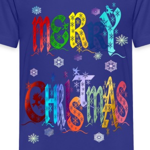 A Very Colorful Merry Christmas - Kids' Premium T-Shirt