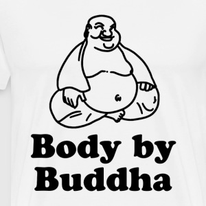 Body of a God Fat Budha T-Shirts - Men's Premium T-Shirt