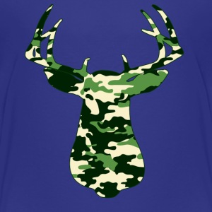 BUCK IN GREEN CAMO - VECTOR GRAPHIC Toddler Shirts - Toddler Premium T-Shirt