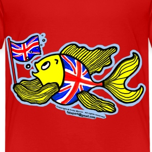 British Fish with a Union Jack Flag - Toddler Premium T-Shirt