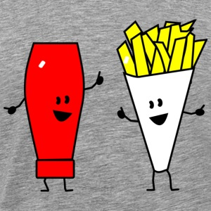 french fries ketchup T-Shirts - Men's Premium T-Shirt
