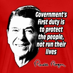Reagan Quote Protect the People T-Shirts - Men's Premium T-Shirt