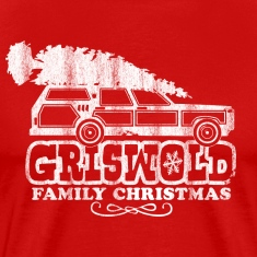 GRISWOLD FAMILY VACATION MOVIE vintage retro CHRISTMAS T-SHIRT RED