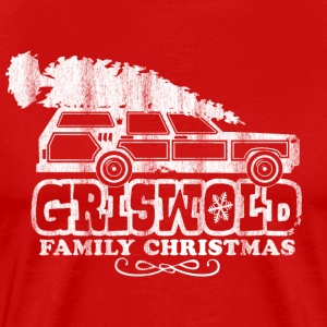 GRISWOLD FAMILY VACATION MOVIE vintage retro CHRISTMAS T-SHIRT RED - Men's Premium T-Shirt