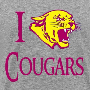 I Love Cougars T-Shirts - Men's Premium T-Shirt