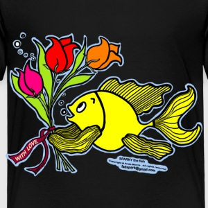 With Love, Fish with Flowers, Sparky the fish  - Toddler Premium T-Shirt