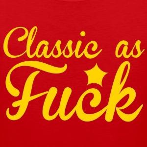classic as fuck RUDE! with a star T-Shirts - Men's Premium Tank