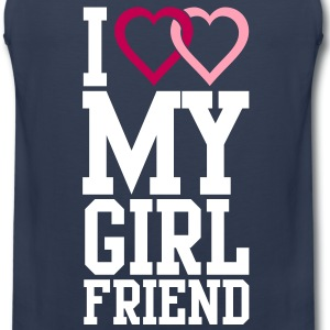 I love my Girlfriend T-Shirts - Men's Premium Tank